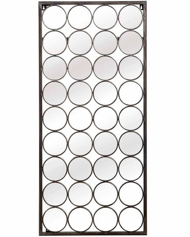Paco - Large Rectangular Mirror with Circles H:125cm