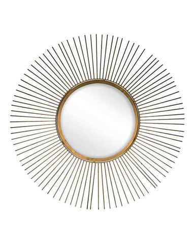 Sun - Sunburst Mirror (Antique Gold Frame, Dia. 65cm)