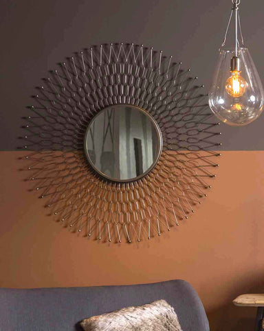 Sunray - Sunburst Wall Mirror (Metal Zinc Frame