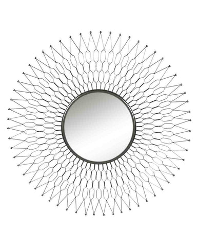 Sunray - Sunburst Wall Mirror (Metal Zinc Frame, Dia. 68cm)