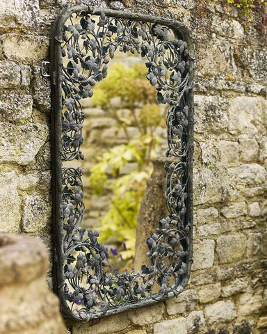 Thousand Leaves - Large Metal Frame Filigree Mirror H:102cm-lifestyle-close up