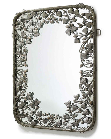 Thousand Leaves - Large Metal Frame Filigree Mirror H:102cm-side view
