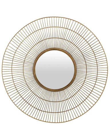 Tom - Contemporary Gold Sunburst Mirror Dia:76cm