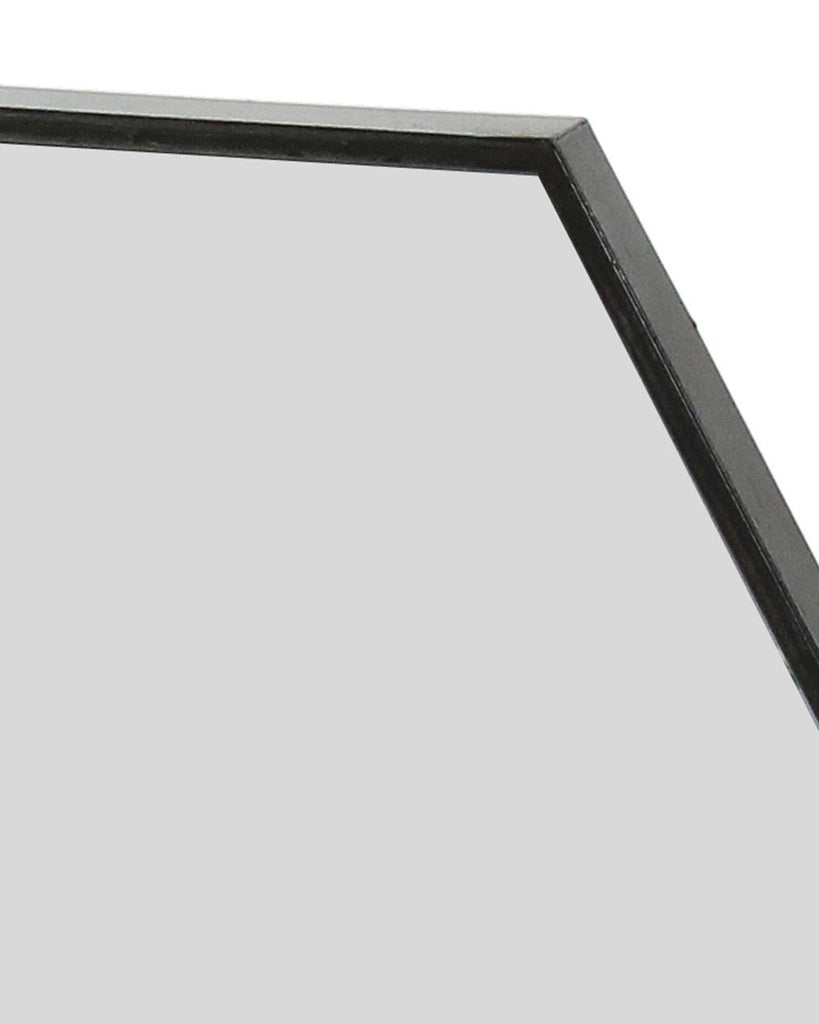 Zen black hexagon mirror metal frame w60cm large free delivery large amipublicfo Gallery