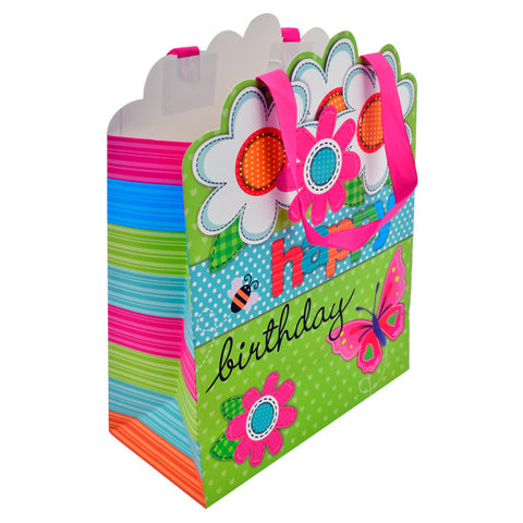 Fundas de regalo Happy Birthday Flores - Regalos Ecuador