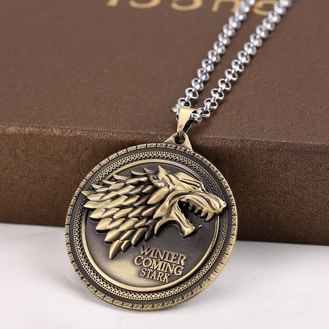 Cadena 3D Game of Thrones - emblema Stark - Regalos Ecuador