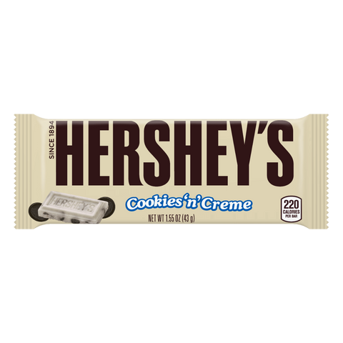 Barra de chocolate Hershey´s Cookies and Cream - Regalos Ecuador