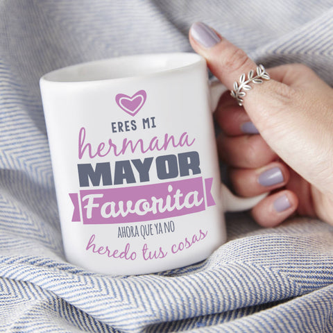 Regalos Originales Hermana Mayor.Jarro Personalizado Para Mi Hermana Mayor Favorita