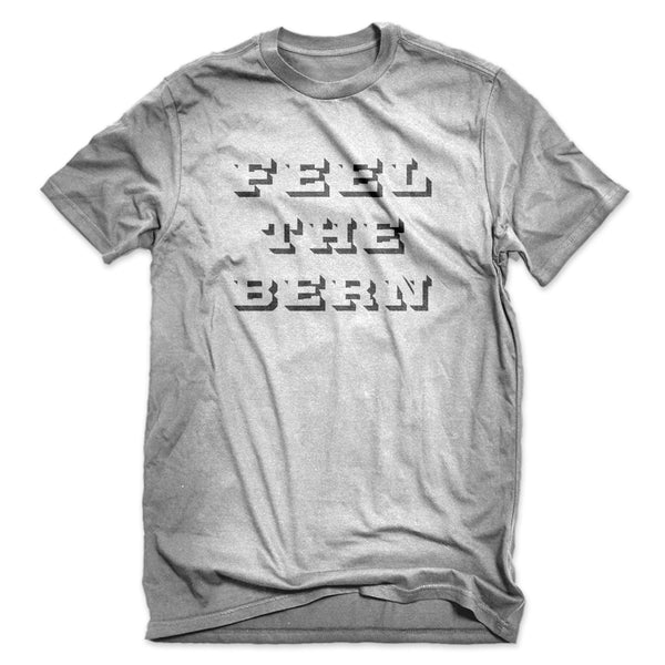 Feel the Bern Stencil T-Shirt (Heather Grey)