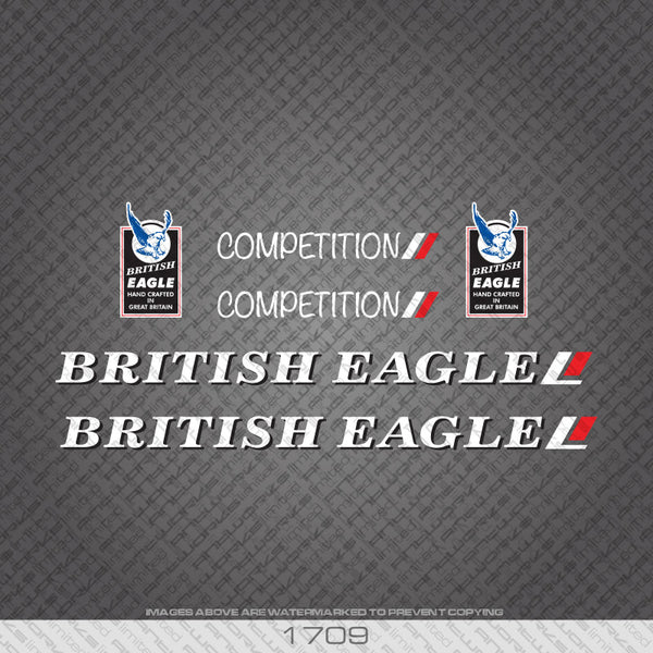 British Eagle Competiton Bicycle Decals.