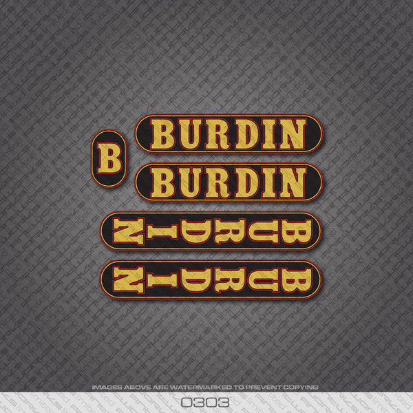 Burdin Bicycle Decals - www.bicyclestickers.co.uk