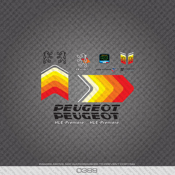 Peugeot Bicycle Decals - Black Text - www.bicyclestickers.co.uk