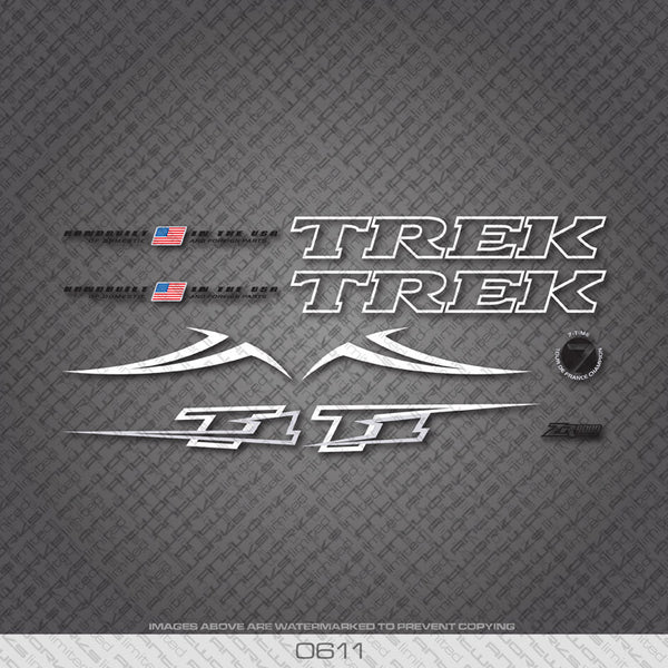 Trek T1 Bicycle Decals - White - www.bicyclestickers.co.uk