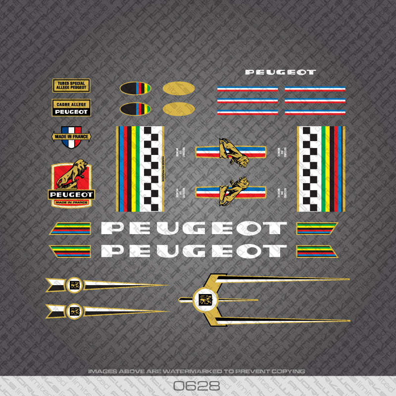 Peugeot Bicycle Decals (0628)