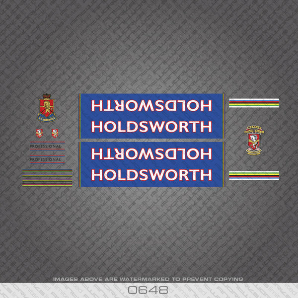 Holdsworth Professional Bicycle Decals - www.bicyclestickers.co.uk