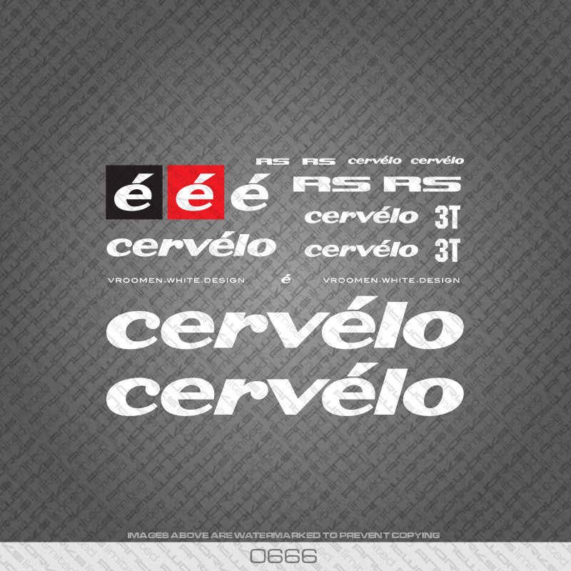 Cervelo RS Bicycle Decals