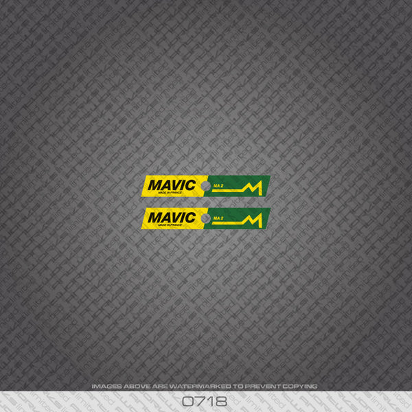 Mavic Bicycle Wheel Decals - Green and Yellow