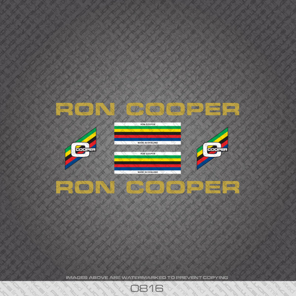Ron Cooper Bicycle Decals - Gold