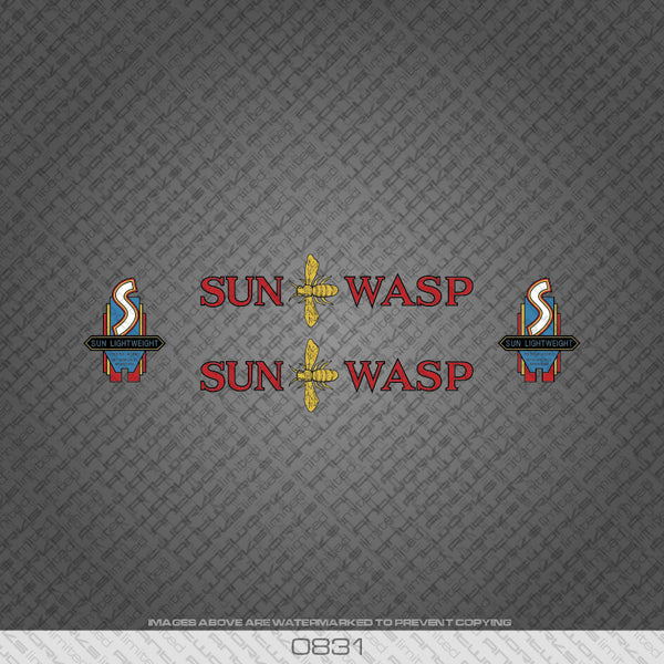 Sun Wasp Bicycle Decals - Blue/Black