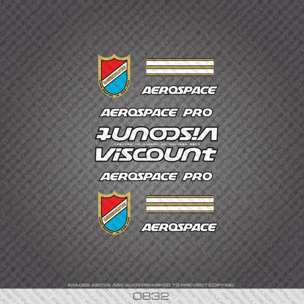Viscount Aerospace Pro Bicycle Decals - White/Gold
