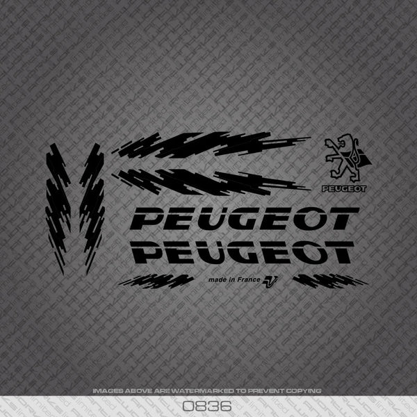 Peugeot Bicycle Decals - Black
