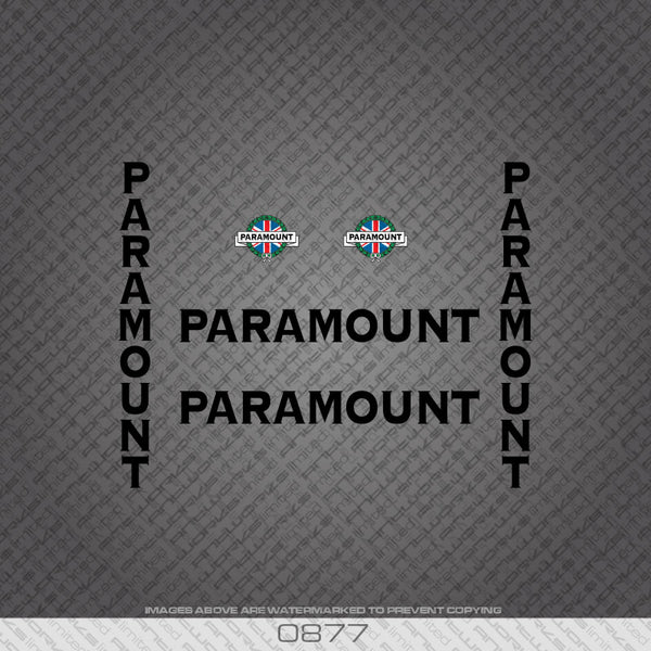 Paramount Bicycle Decals - Black Lettering