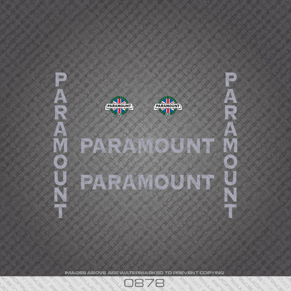 Paramount Bicycle Decals - Silver Lettering