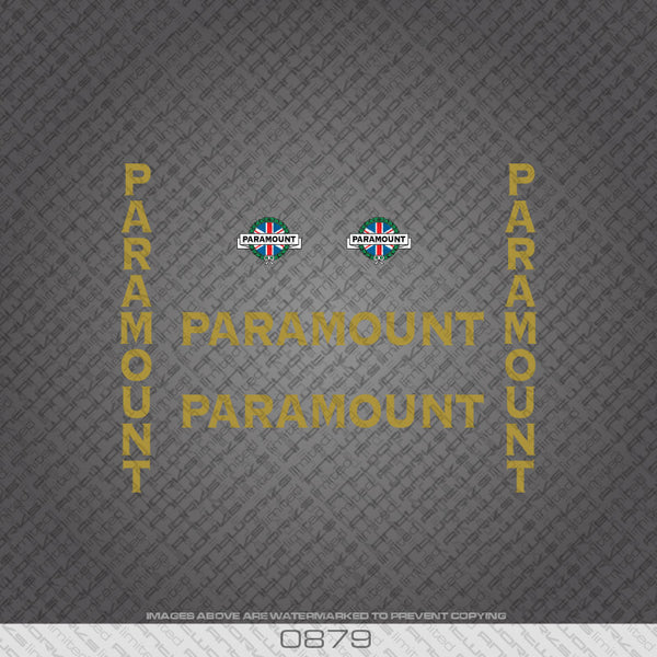 Paramount Bicycle Decals - Gold Lettering