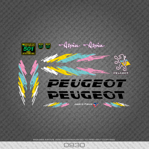 Peugeot Aspin Bicycle Decals
