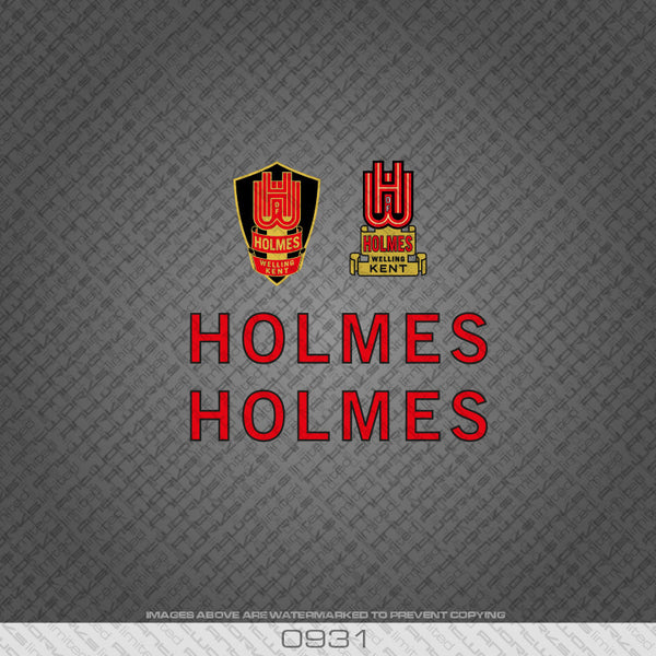 Holmes of Welling Red and Black Bicycle Decals
