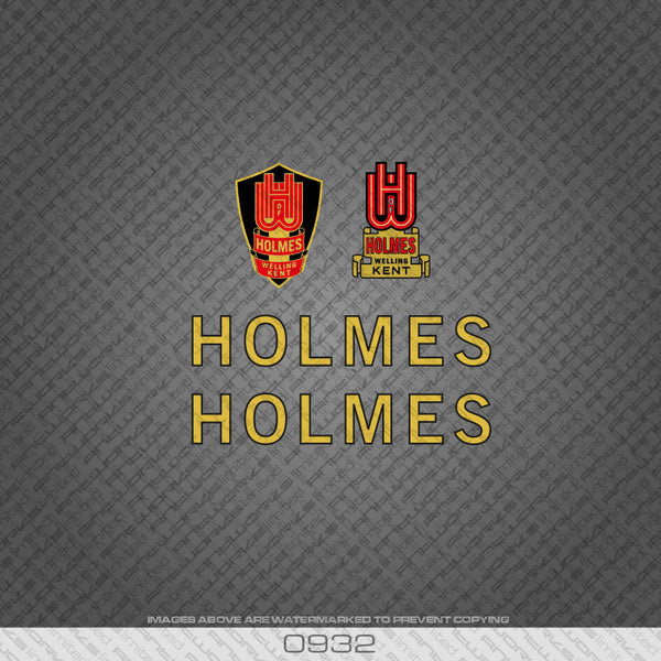 Holmes of Welling Gold and Black Bicycle Decals
