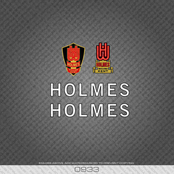 Holmes of Welling White and Black Bicycle Decals