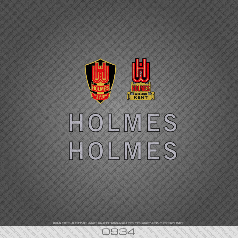 Holmes of Welling Silver and Black Bicycle Decals