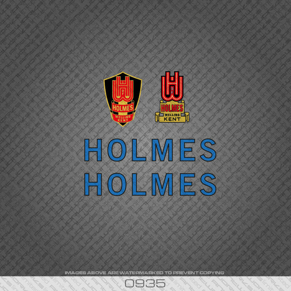 Holmes of Welling Blue and Black Bicycle Decals