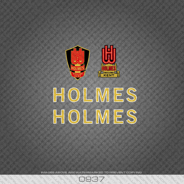 Holmes of Welling Gold and White Bicycle Decals