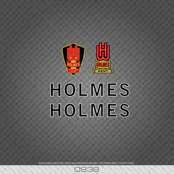 Holmes of Welling Black and White Bicycle Decals