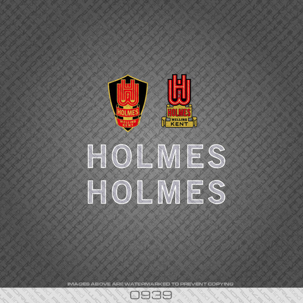 Holmes of Welling Silver and White Bicycle Decals
