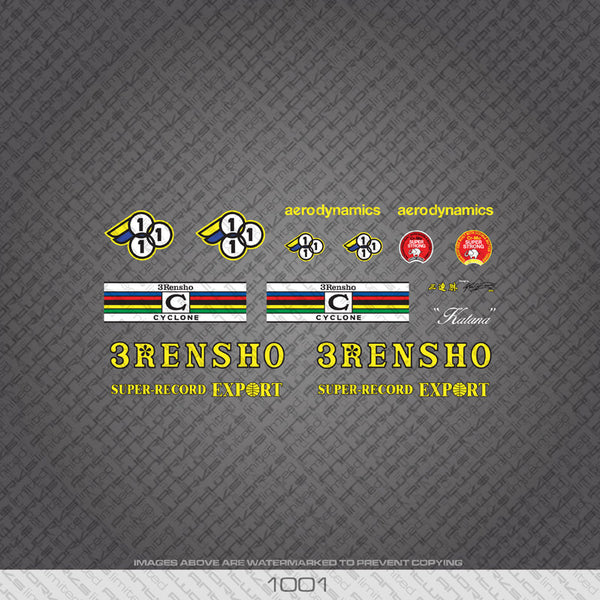 3Rensho Bicycle Decals