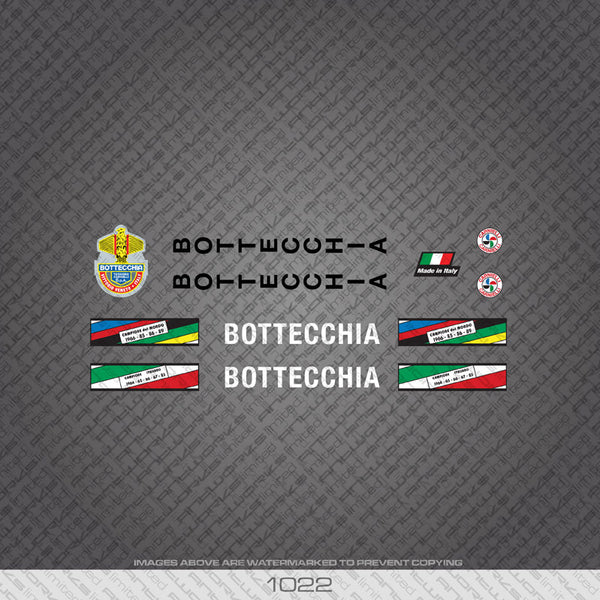 Bottecchia Bicycle Decals - www.bicyclestickers.co.uk