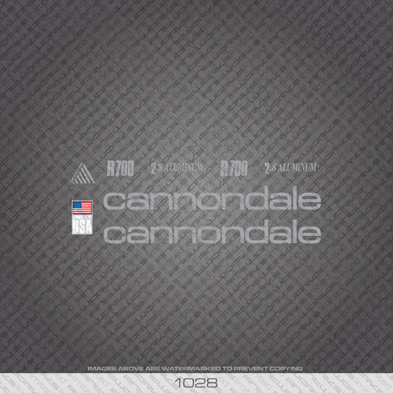 Cannondale R700 Bicycle Decals - Silver - www.bicyclestickers.co.uk