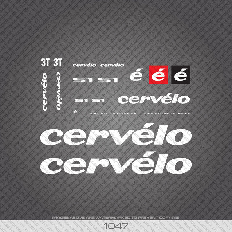 Cervelo S1 Bicycle Decals - www.bicyclestickers.co.uk