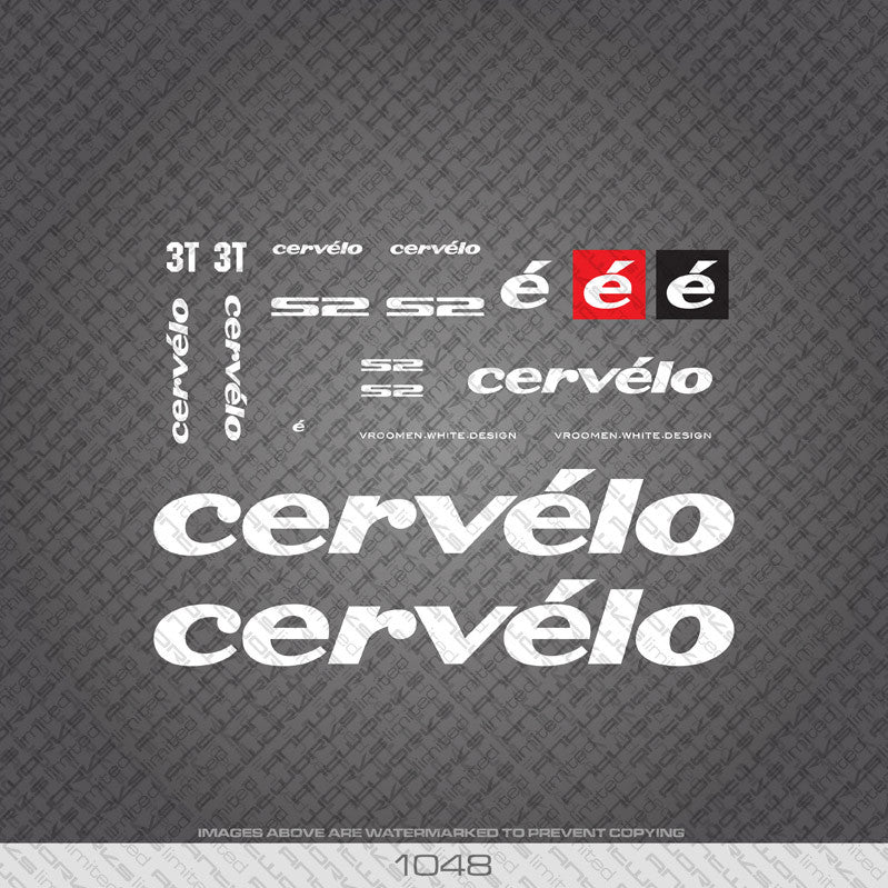 Cervelo S2 Bicycle Decals - www.bicyclestickers.co.uk