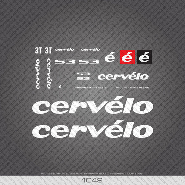 Cervelo S3 Bicycle Decals - www.bicyclestickers.co.uk