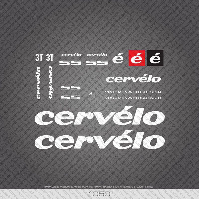 Cervelo S5 Bicycle Decals - www.bicyclestickers.co.uk