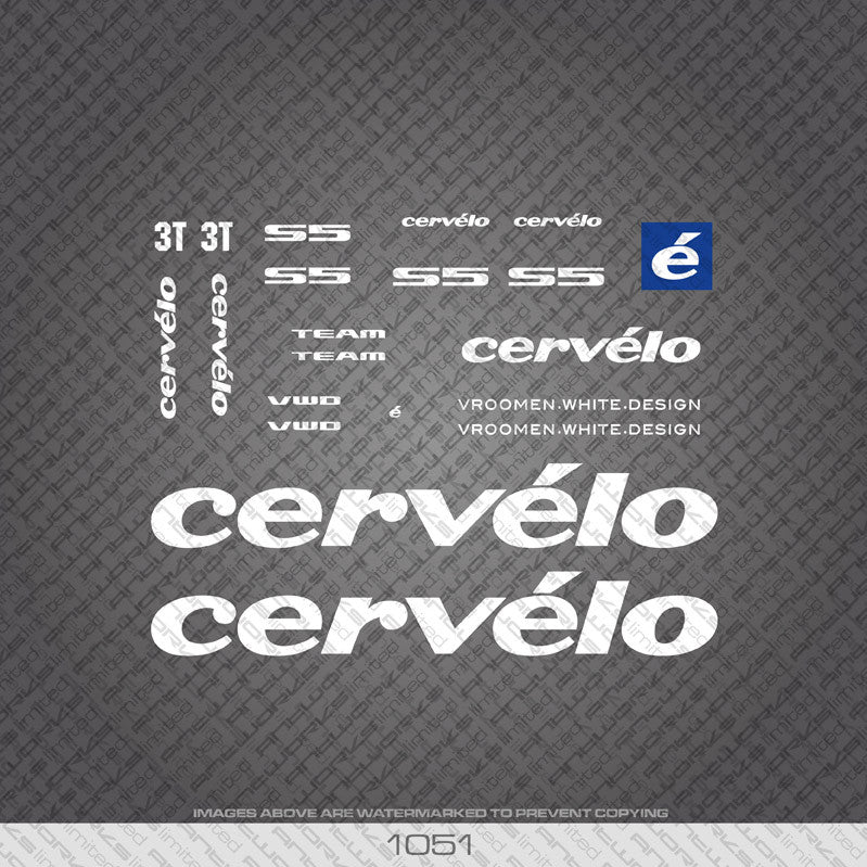 Cervelo S5 Team Bicycle Decals - www.bicyclestickers.co.uk