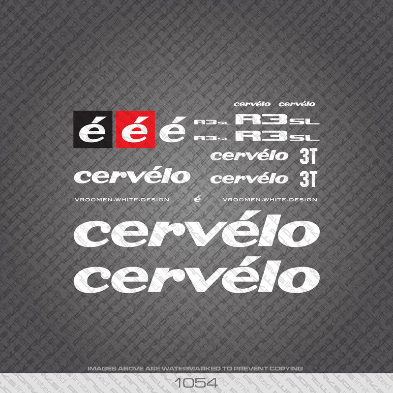 Cervelo R3 SL Bicycle Decals - www.bicyclestickers.co.uk