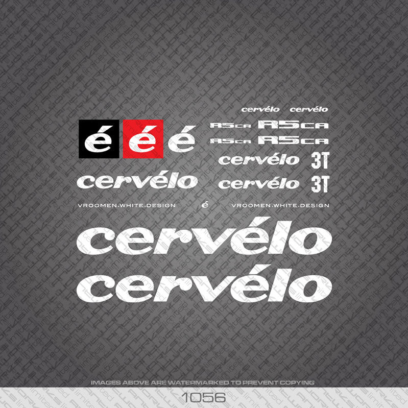 Cervelo R5 CA Bicycle Decals - www.bicyclestickers.co.uk