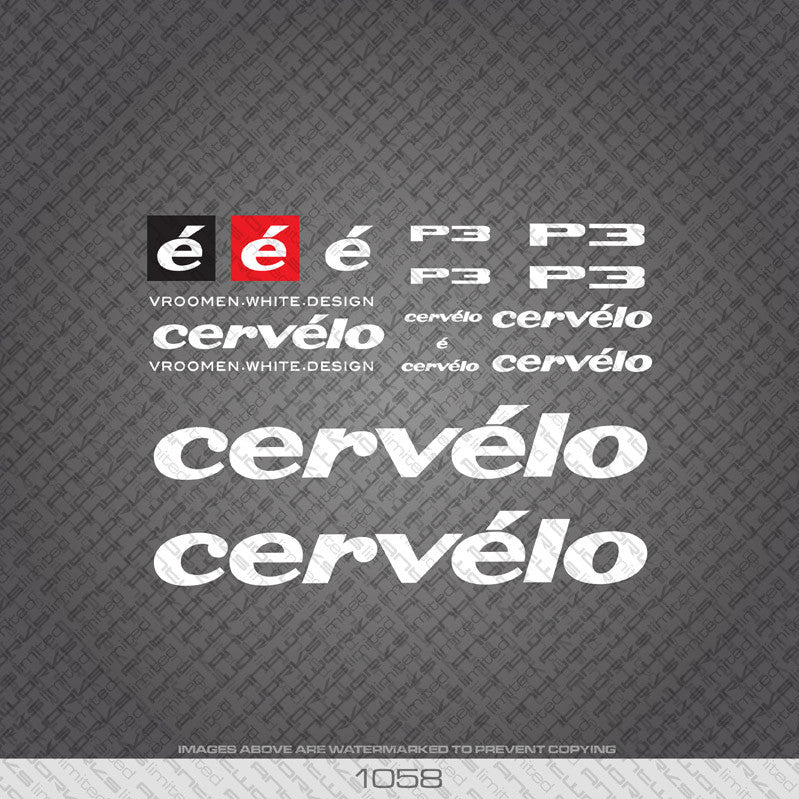 Cervelo P3 Bicycle Decals - www.bicyclestickers.co.uk