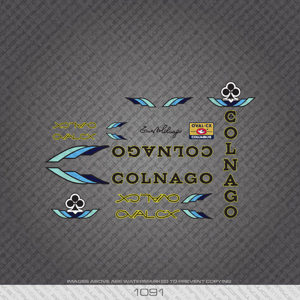 Colnago Oval CX Bicycle Decals - www.bicyclestickers.co.uk