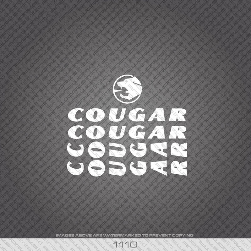 Cougar Bicycle Decals Available In 5 Different Colours - www.bicyclestickers.co.uk